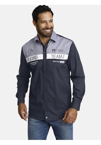 Jan Vanderstorm Langarmhemd »BALDUR«, mit grossflächiger Applikation kaufen