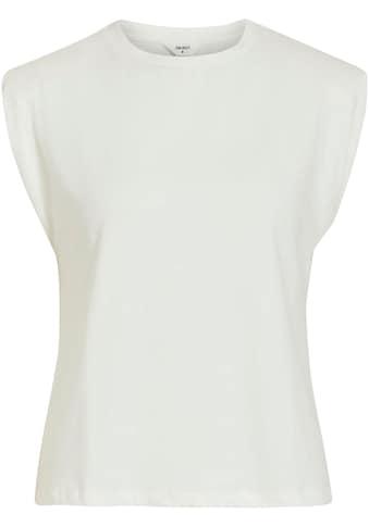 Object Rundhalsshirt »OBJSTEPHANIE JEANETTE«, mit Schulterpolstern aus softem Modal-Mix kaufen