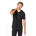 SUPER.NATURAL T-Shirt »M BASE V-NECK TEE 140«, geruchshemmender Merino-Materialmix