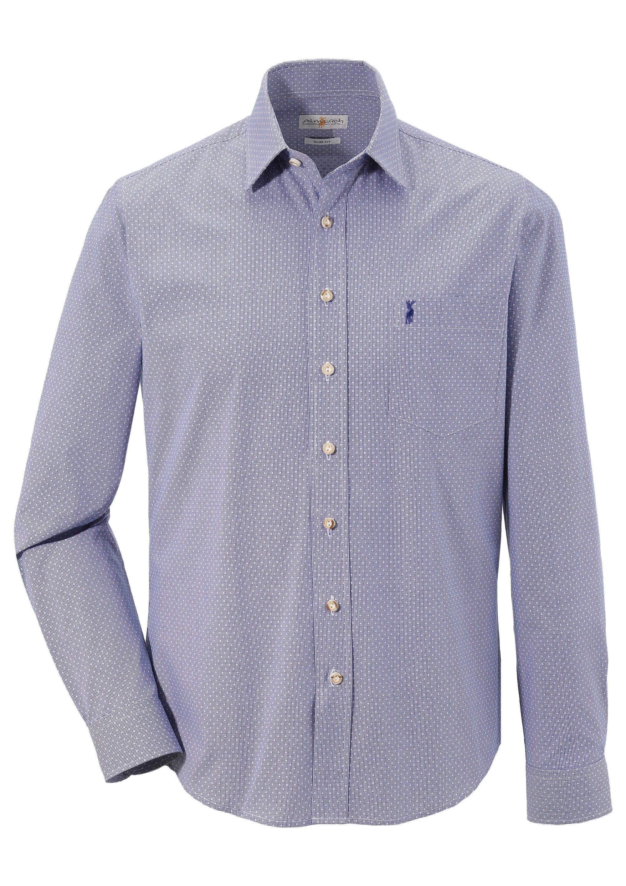 Image of Almsach Trachtenhemd mit dezenter Musterung