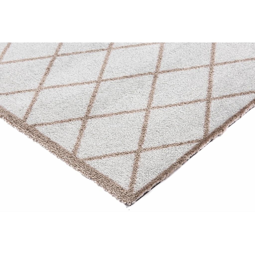 Zala Living Fussmatte »Scale«, rechteckig, 7 mm Höhe, Schmutzfangmatte, Rauten Design, In- und Outdoor geeignet