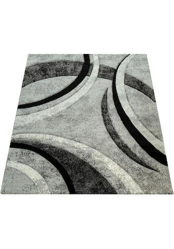 Paco Home Teppich »Brillance 758«, rechteckig, 18 mm Höhe, Kurzflor mit geometrischem... kaufen