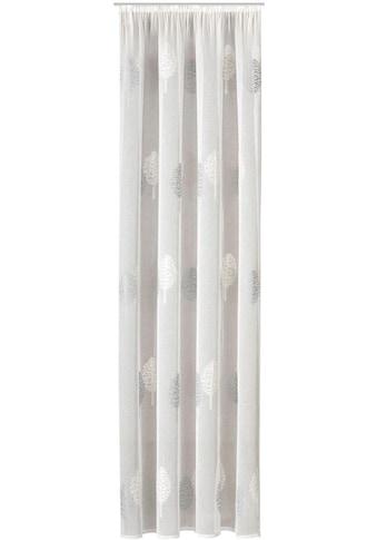 Gerster Vorhang »Egil«, HxB: 235x140, Schlaufenschal mit Kräuselband bestickt kaufen