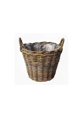 Blumentopf »Jaco Pflanzentopf Rattan Korb rund«, Material: Plastik, Rattan kaufen
