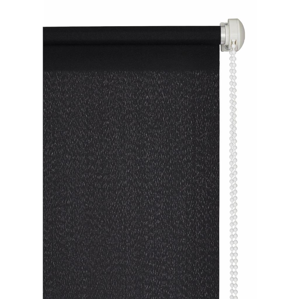 my home Seitenzugrollo »Themse-Uni«, Lichtschutz, ohne Bohren, freihängend, im Fixmass