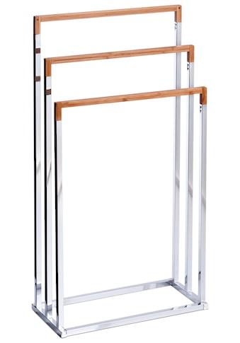 ZELLER Handtuchständer Bambus/Metall verchromt, 45x21,5x84,5 cm kaufen