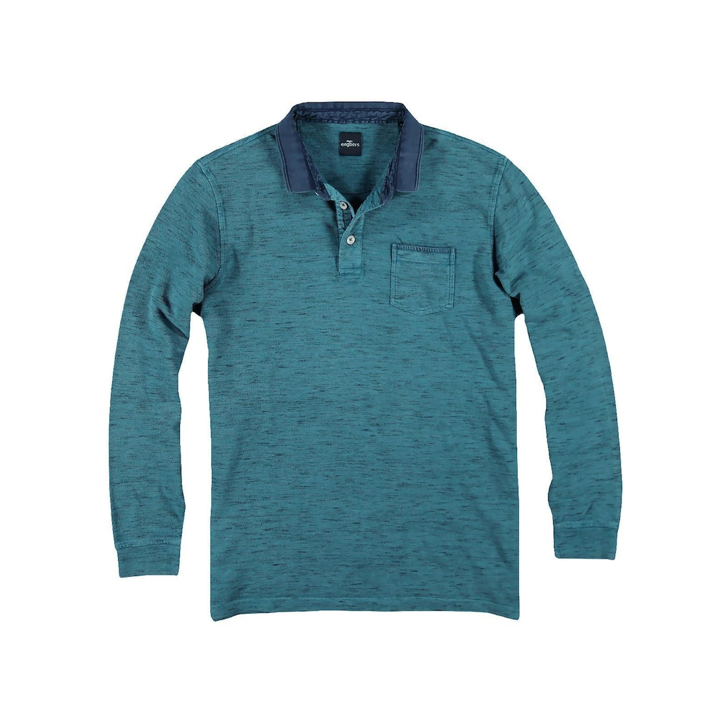 Engbers meliertes Poloshirt