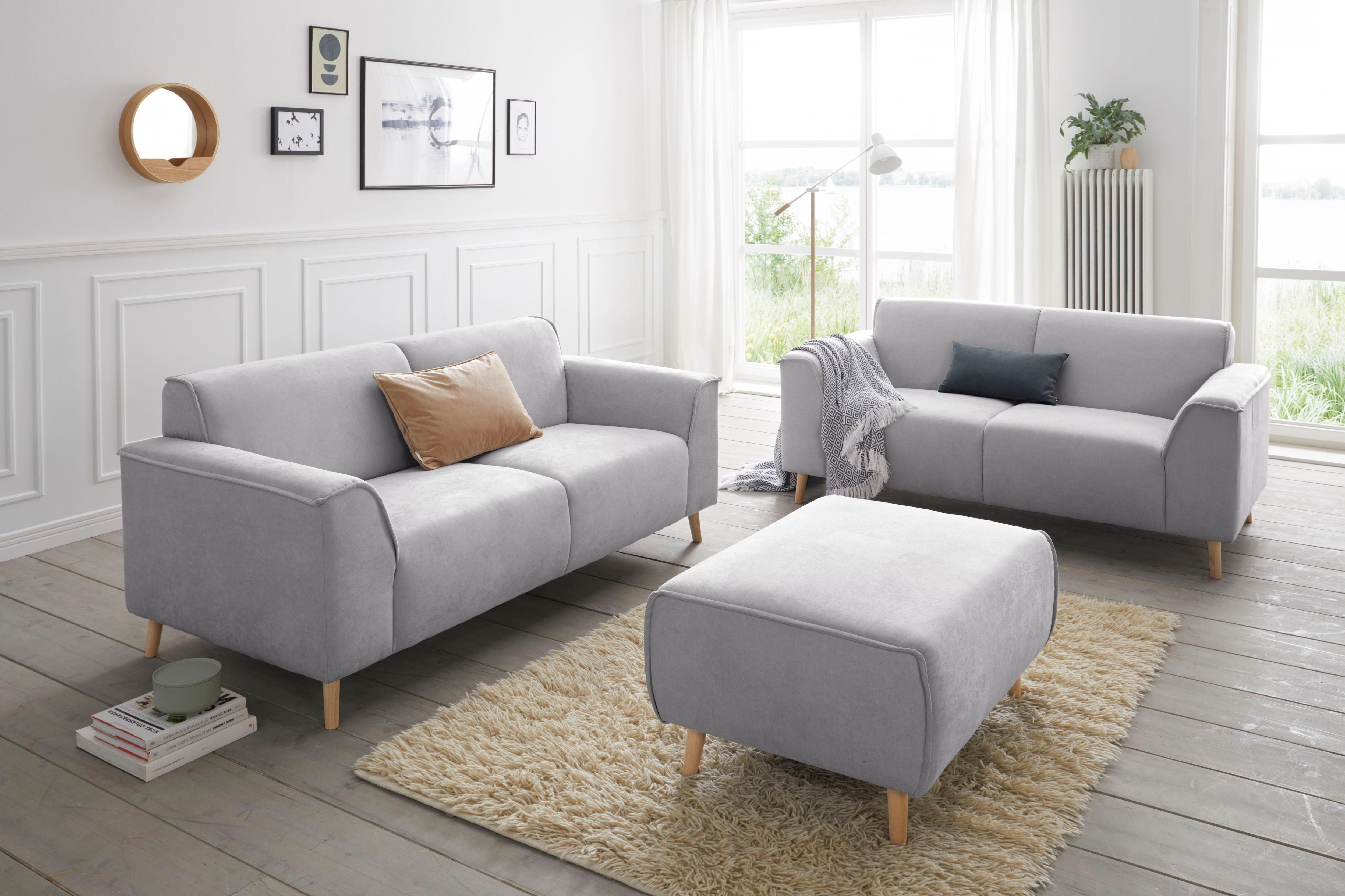 Image of andas 2-Sitzer »Janek« mit Federkern und Keder in scandinavischem Design