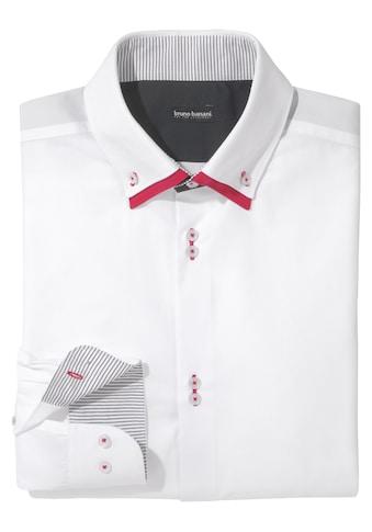 Bruno Banani Businesshemd, mit aufwendig gearbeiteter Knopfleiste kaufen