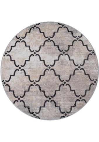 Paco Home Teppich »Artigo 411«, rund, 4 mm Höhe, In- und Outdoor geeignet, Vintage... kaufen