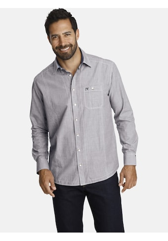 Jan Vanderstorm Langarmhemd »GILMAR«, Mit modischem Zierstepp kaufen