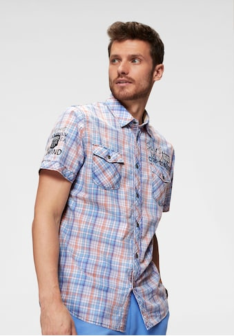 CAMP DAVID Kurzarmhemd, mit Karo-Muster kaufen