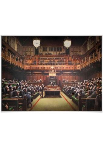 Wall-Art Poster »Graffiti Bilder Devolved Parliament«, Schriftzug, (1 St.), Poster,... kaufen