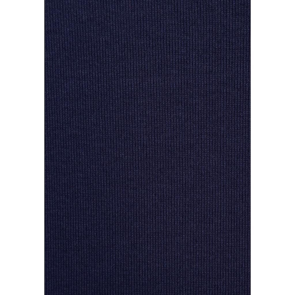 AJC Langarmshirt, mit Knopfleiste