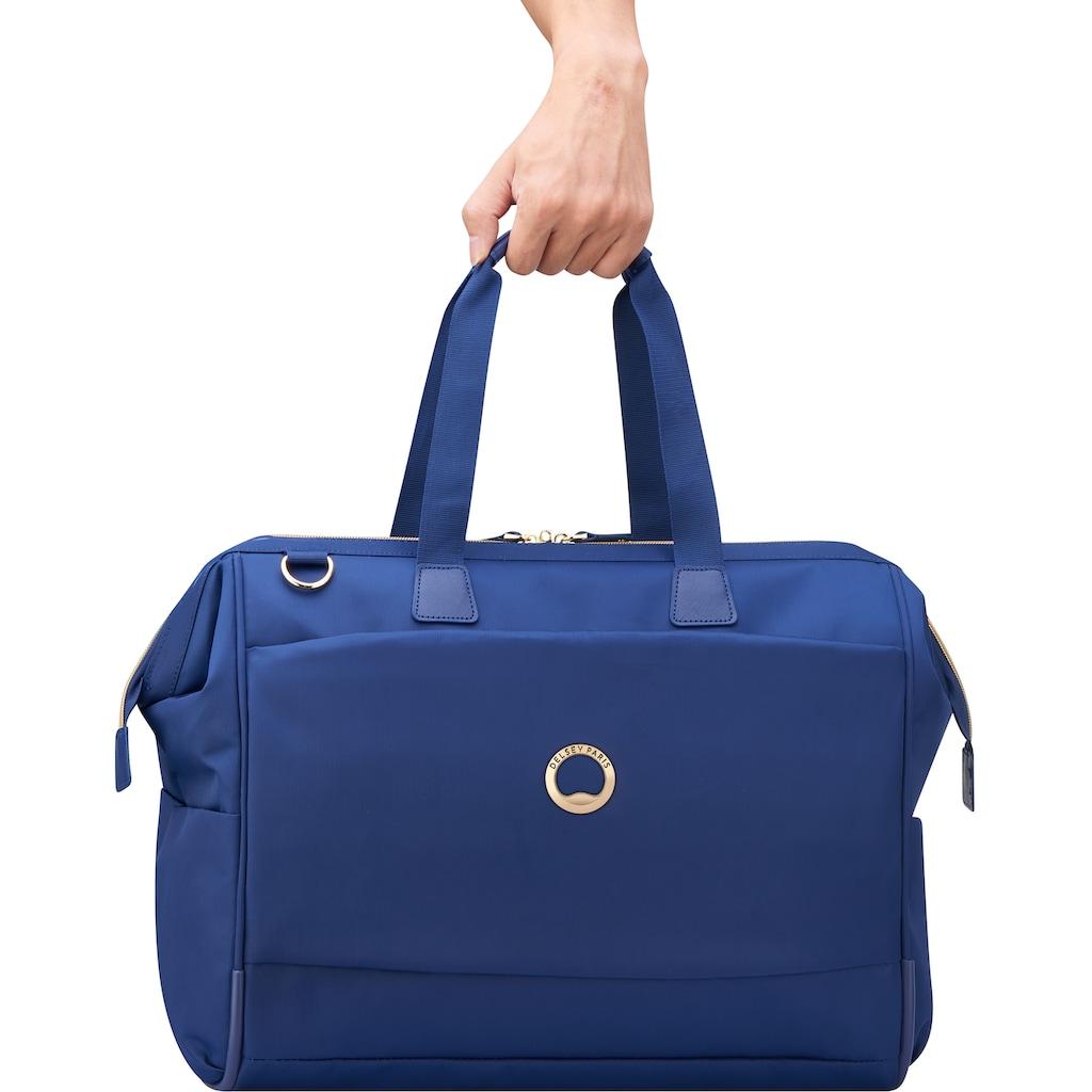 Delsey Reisetasche »Montrouge Reporter, blue«, mit TSA-Schloss