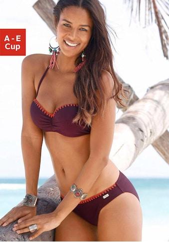 Buffalo Bügel-Bandeau-Bikini, mit Häkelkante kaufen