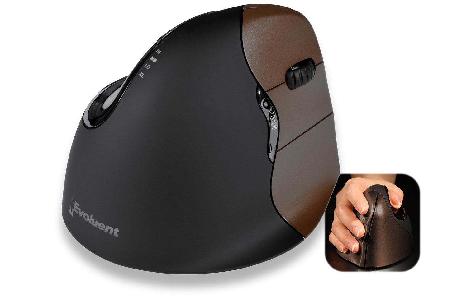 Image of Ergonomische Maus, Evoluent, »Vertical 4 Small Wireless«