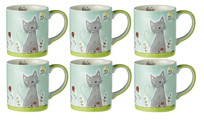 Mila Cappuccinotasse »Katze in Blumenwiese« kaufen