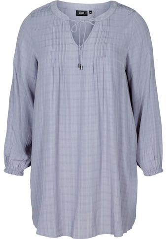Zizzi Klassische Bluse, mt Kordel zum Binden kaufen