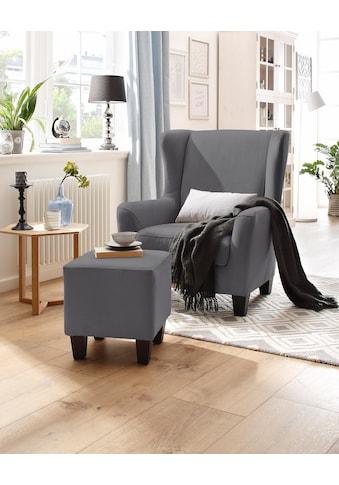 Home affaire Sessel »Chilly«, mit bequemer Federkern-Polsterung, in drei unterschiedlichen Bezugsqualitäten erhältlich, Sitzhöhe 44 cm kaufen