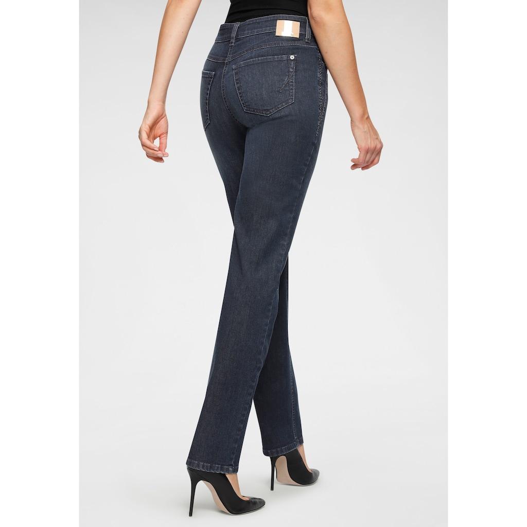 MAC Gerade Jeans »Angela-Cool«, Coole Nietenbesatz an den Taschenverzierungen