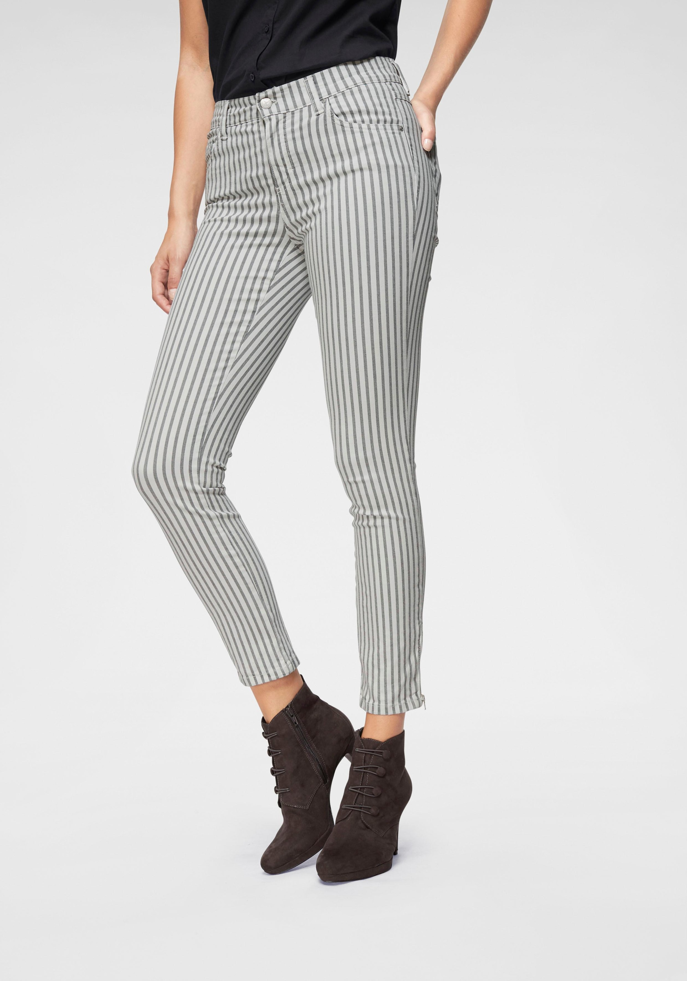 Image of ANGELS Ankle-Jeans »Skinny Ankle Stripe«