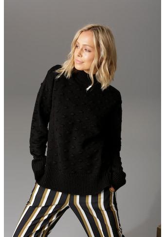 Aniston CASUAL Stehkragenpullover, mit eingestrickten Punkten kaufen