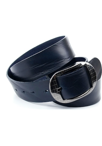 Anthoni Crown Ledergürtel, Denim-Gürtel in marine kaufen