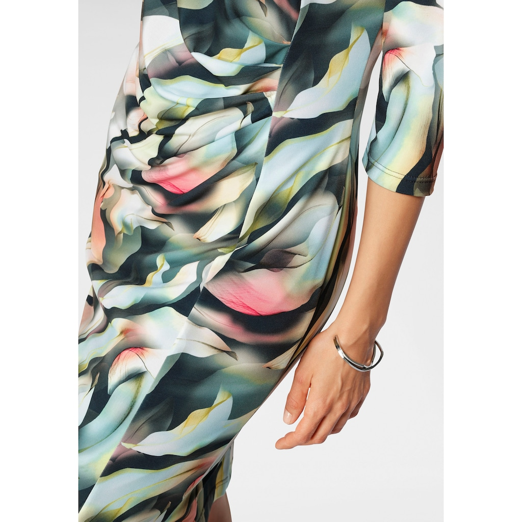 HERMANN LANGE Collection Druckkleid, aus Jersey mit Allover-Print in Aquarell-Optik