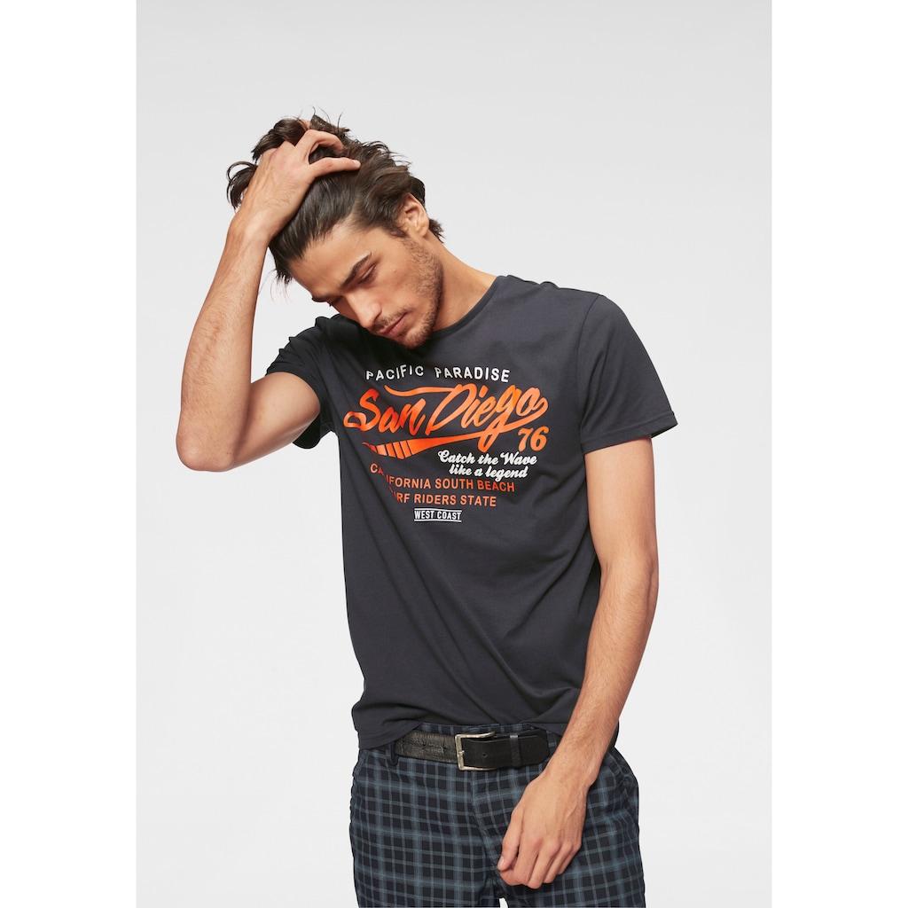 John Devin T-Shirt, mit Schriftzug-Print