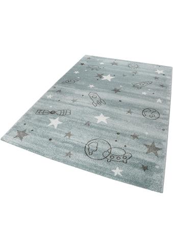 Esprit Kinderteppich »Yoda«, rechteckig, 13 mm Höhe, Weltall Design, Kurzflor kaufen