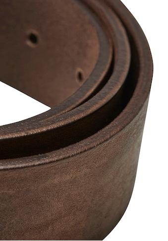 Jack & Jones Ledergürtel, Vintage-Look, genarbte Oberfläche kaufen