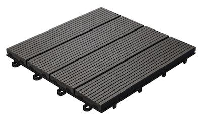 florco® Terrassenplatten »WPC anthrazit 30 x 30, 6 Stk.« kaufen