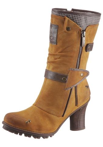 Mustang Shoes Stiefel, mit modischen Zierriemchen kaufen
