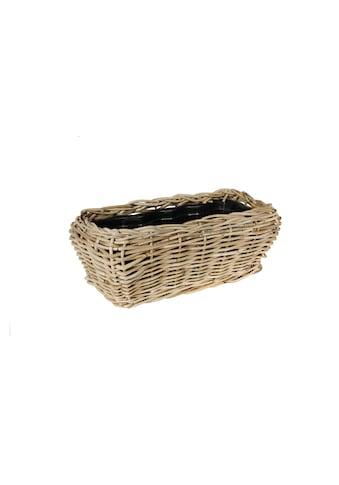 Blumentopf »Jaco Pflanzengefäss Drypot Kiste Na«, Material: Plastik, Rattan kaufen