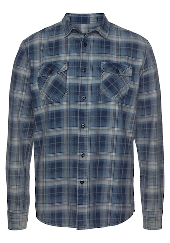 Arizona Langarmhemd, im trendigem Karo und Brusttaschen kaufen