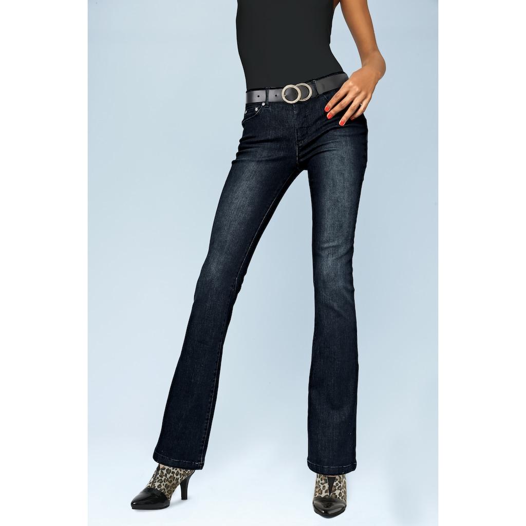 LINEA TESINI by Heine Bootcut-Jeans, mit Push-up Effekt