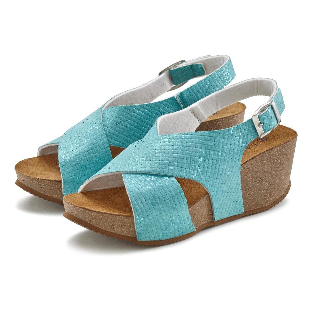 LASCANA Sandalette, mit Keilabsatz und Korkfussbett