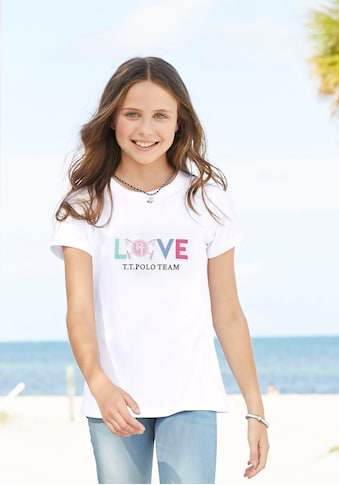 TOM TAILOR Polo Team T-Shirt »LOVE«, mit Frontdruck kaufen