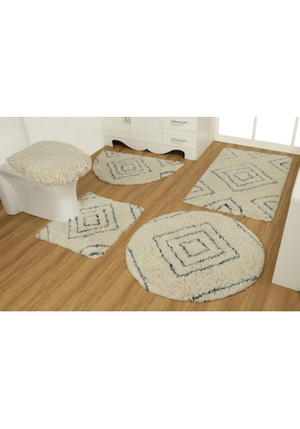 GOODproduct Badematte »Estelle«, Höhe 40 mm, strapazierfähig, aus recycelter Baumwolle kaufen