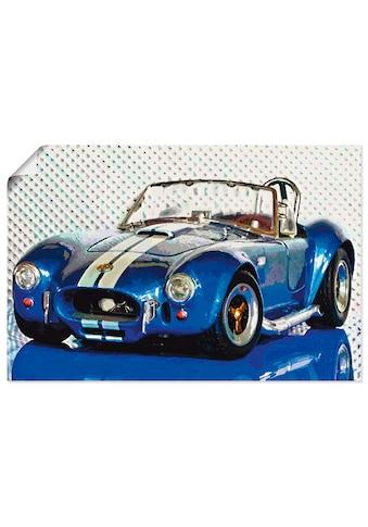 Artland Wandbild »Shelby Cobra blau«, Auto, (1 St.), in vielen Grössen & Produktarten... kaufen