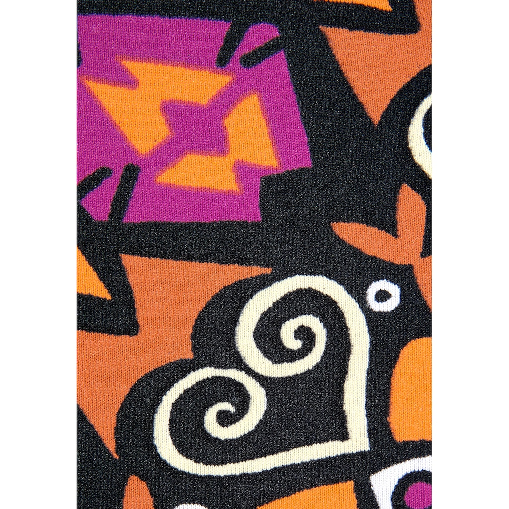 LASCANA Push-Up-Bikini, mit schönem Druckdesign mit Zierperlen