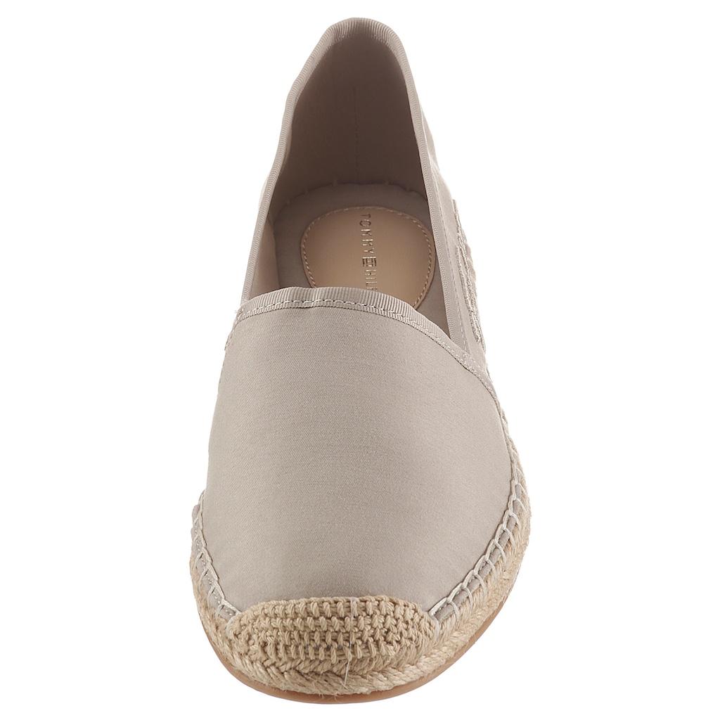 TOMMY HILFIGER Espadrille »TH SIGNATURE ESPADRILLE«, in schmaler Schuhweite, mit seitlichem Logoschriftzug