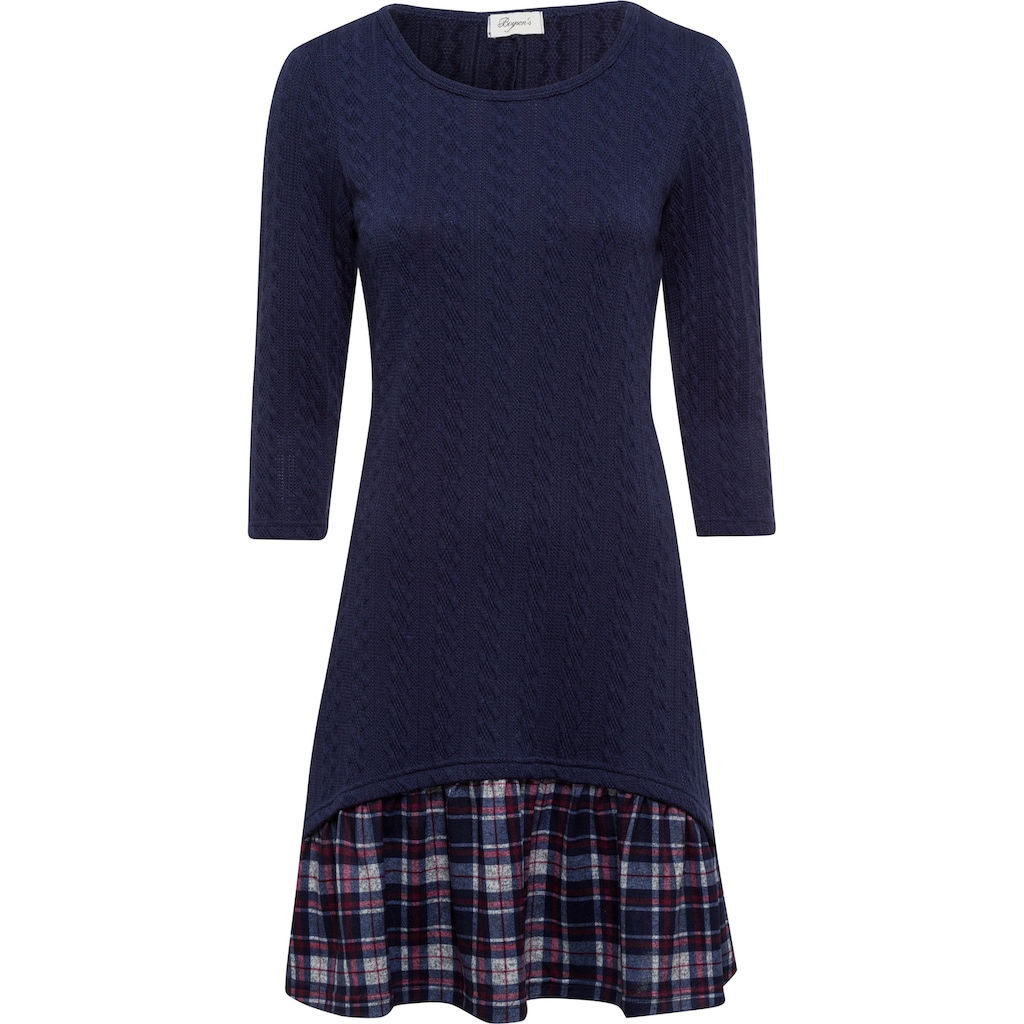 Boysen's 2-in-1-Kleid, mit kariertem Rockteil