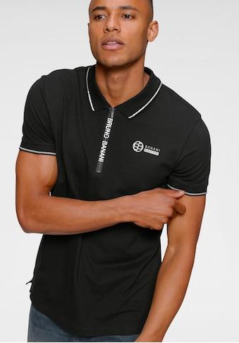 Bruno Banani Poloshirt, mit Reissverschluss kaufen