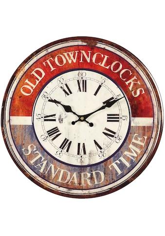 Ambiente Haus Wanduhr »Old Town Wanduhr aus Metall 40cm« kaufen