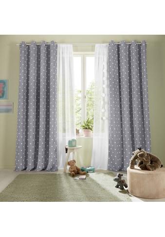 Lüttenhütt Vorhang »PUNKTE«, bedruckte Kindergardine kaufen