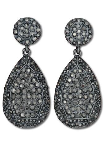J.Jayz Paar Ohrstecker »Glamour-Look in XL Tropfenform«, mit Glassteinen kaufen