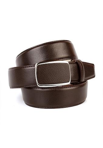 Anthoni Crown Ledergürtel, Eleganter Gürtel in Hirschprägung, Schliesse bezogen kaufen
