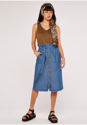 Apricot Jeansrock »Denim Paperbag Button Down Skirt«, (mit Bindegürtel), mit Bindegürtel kaufen